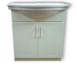 Mueble de 0.80 m. con 2 puertas con bacha de loza blanca