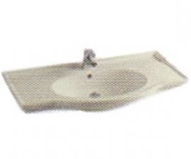 Bacha de loza con curva frontal  de 80 cm. color hueso